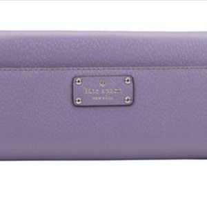 Kate spade lilac wallet leather